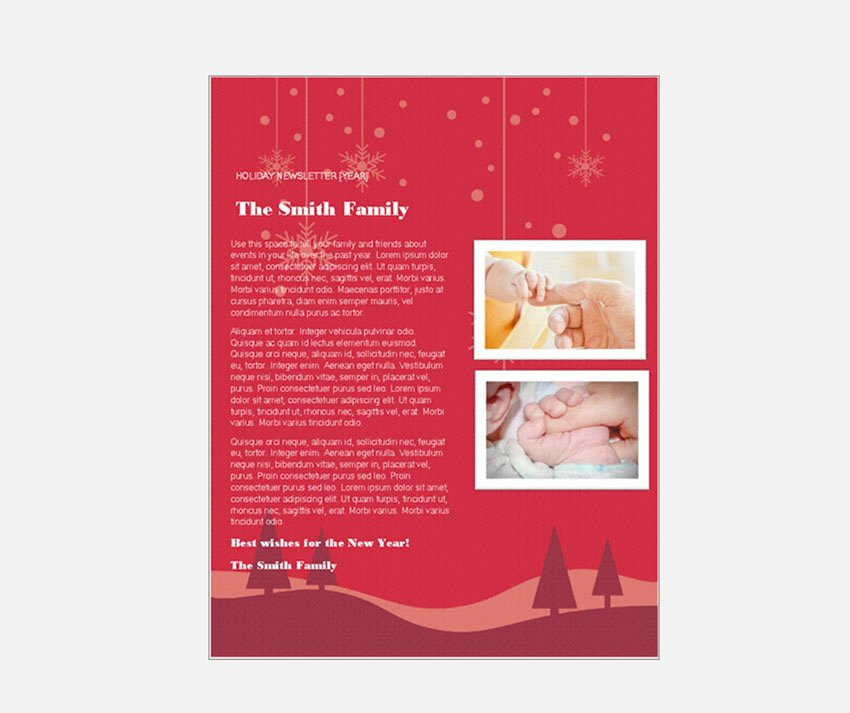 Free Christmas Newsletter Templates