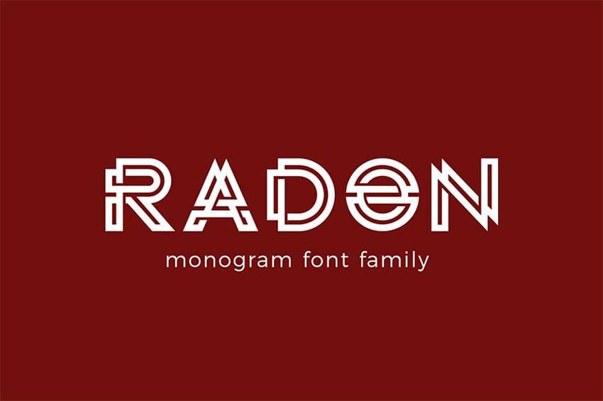 RADON Monogram Font
