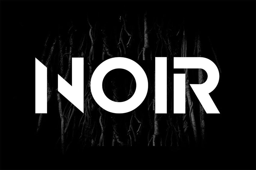 NOIR - Block Monogram Font