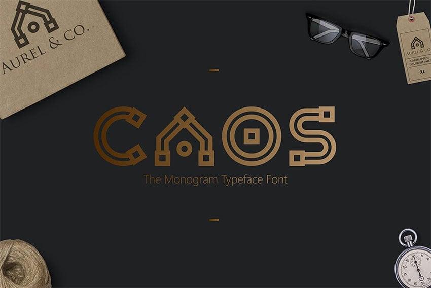 CAOS  Split Letter Monogram Typeface
