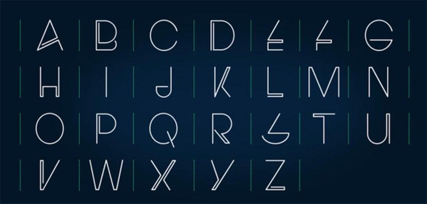 Electro Free Monogram Font