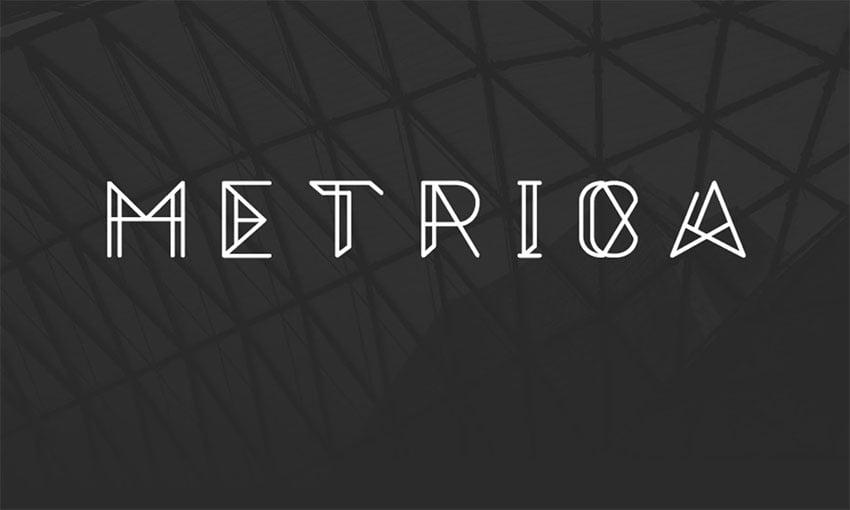 Metrica - Free Monogram Font Download