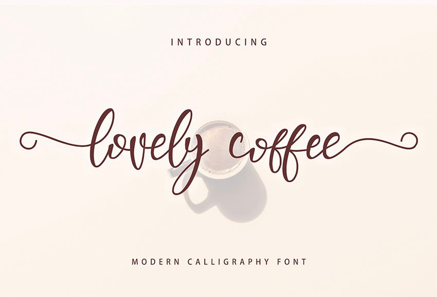 Lovely Coffee - Free Monogram Fonts