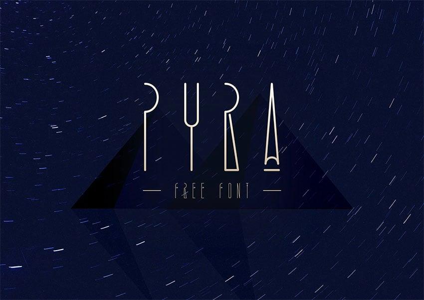 PYRA - Free Monogram Font