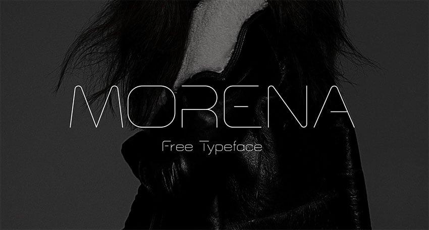 Morena vintage 90s font