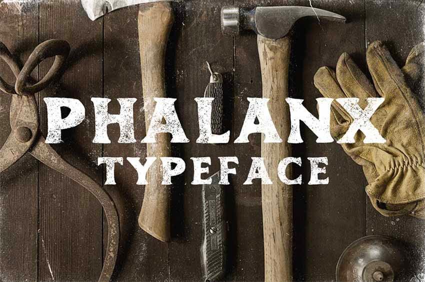 Phalanx vintage font style
