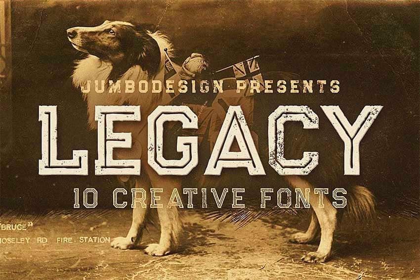 Legacy Vintage Style Font