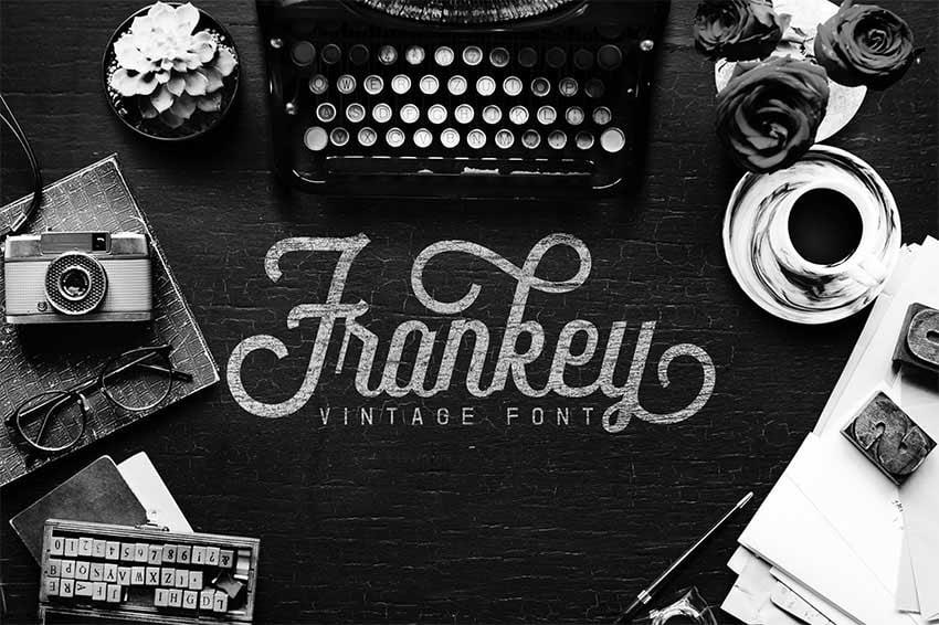 Frankey Script Vintage Font