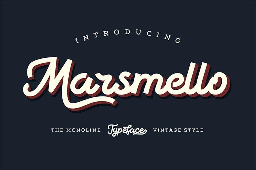 Marsmello Vintage Sign Font
