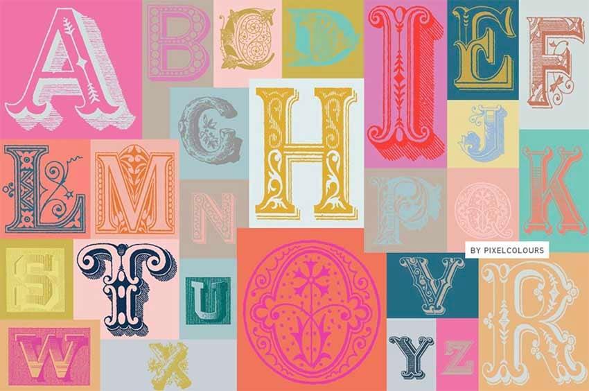 vintage fonts on Envato Elements