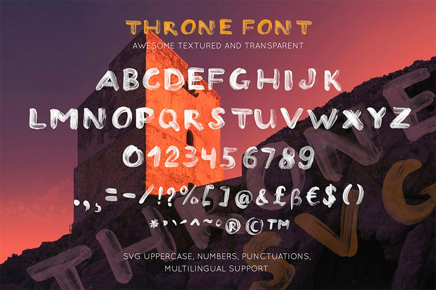 THRONE - SVG  Regular OTF font