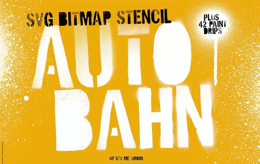 Stencil Autobahn SVG Font Bold