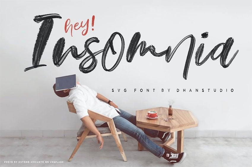 Hey Insomnia SVG Font