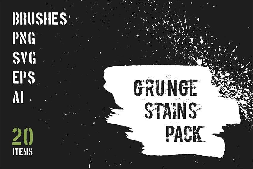 Grunge Stains Brushes for Affinity Designer
