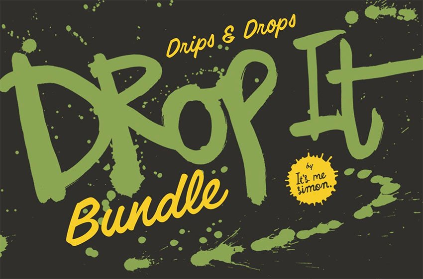 Affinity Brushes With Drip Textures