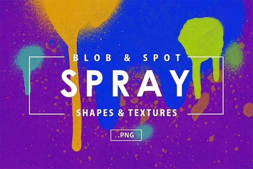 101 Blob  Spot Spray Shapes