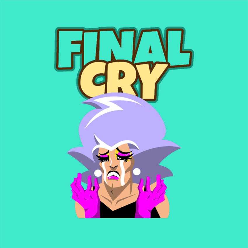 Twitch Emote Featuring a Character Crying