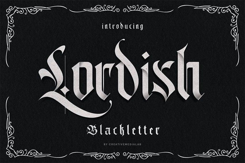 Lordish Tattoo Lettering Fonts