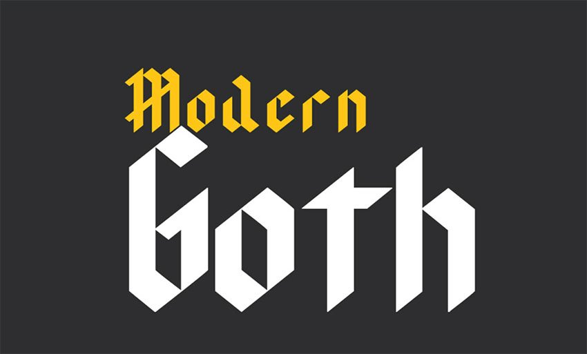 Free Tattoo Ink Font - Modern Goth