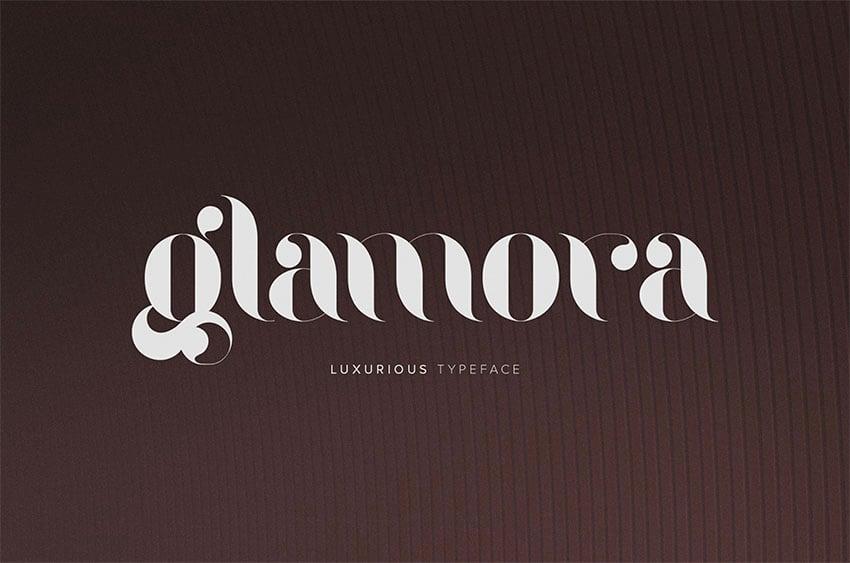 Glamora Free Tattoo Font