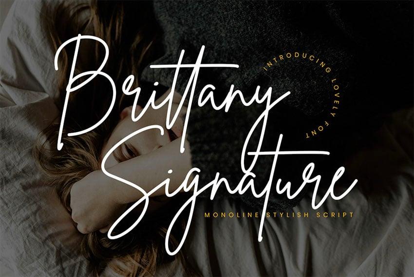 Brittany Cursive Signature Font