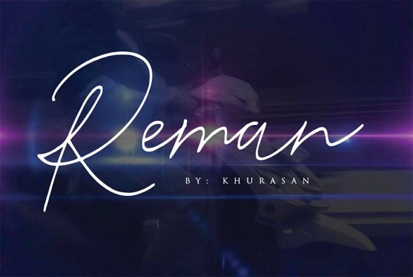 Reman Free Signature Fonts