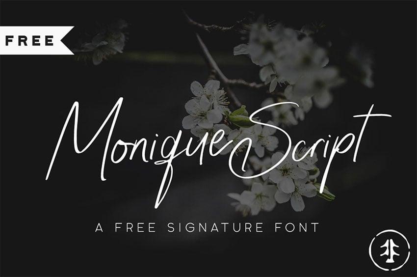 Monique Elegant Signature Font