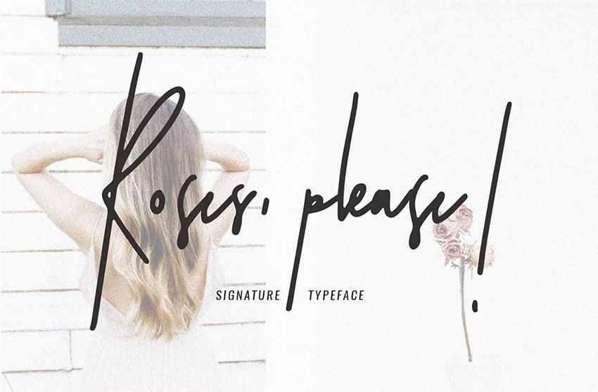 Roses Please - Free Signature Fonts