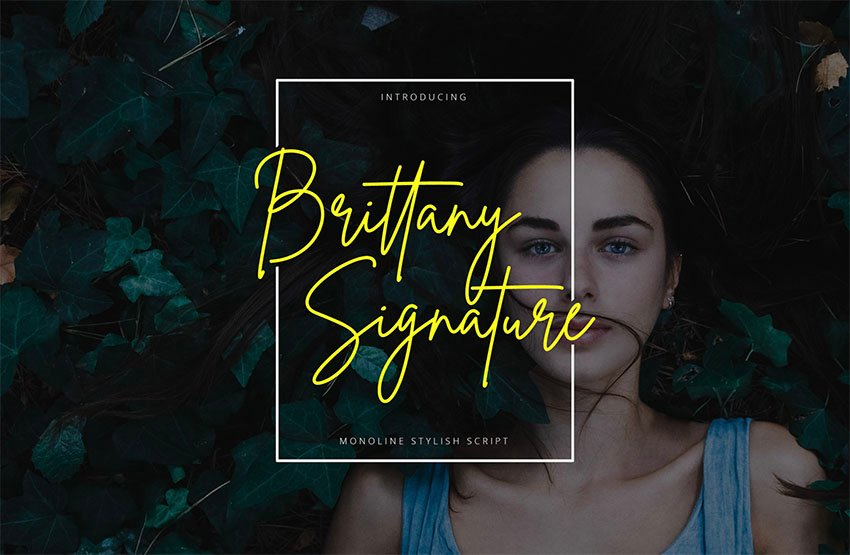 Brittany Signature Type Fonts