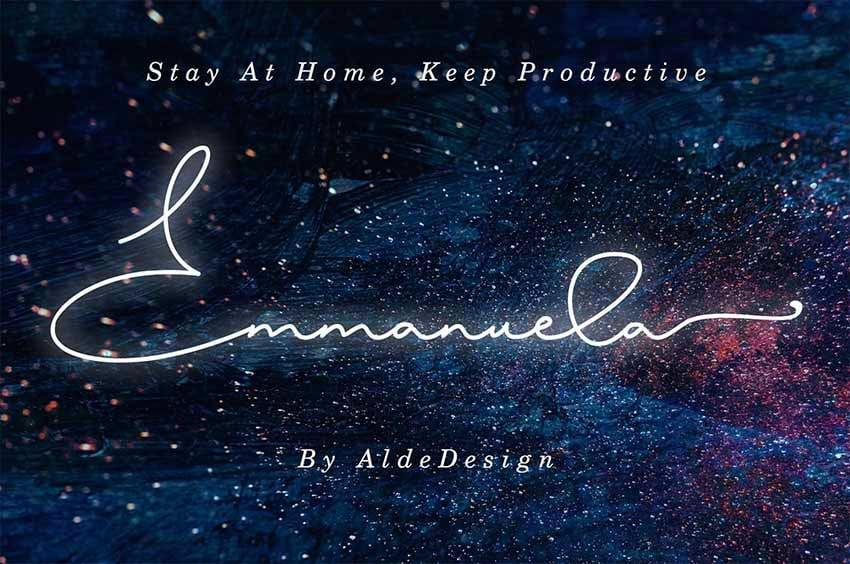 Emmanuela  Signature Font