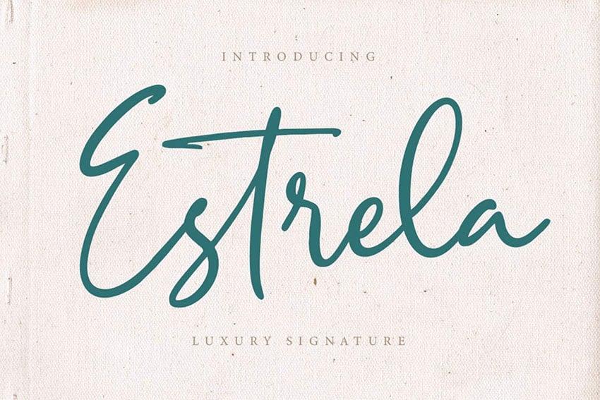 Estrela Signature Style Font