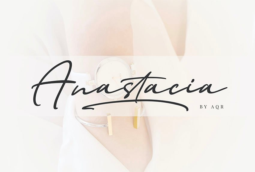 Anastacia Signature Like Font