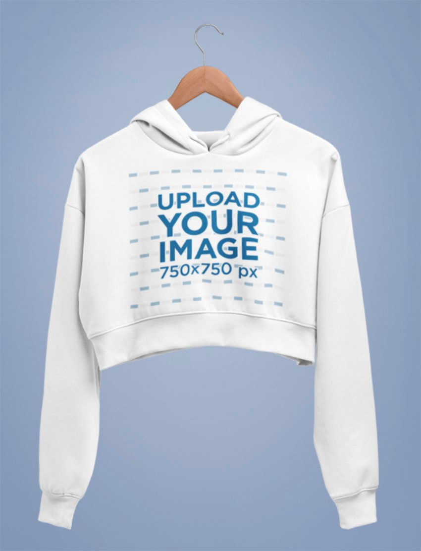 Cropped Hoodie Design Template