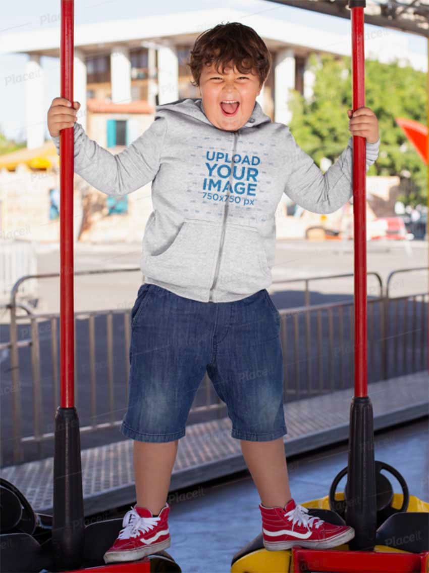 Hoodie Sweatshirt Mockup for Kids