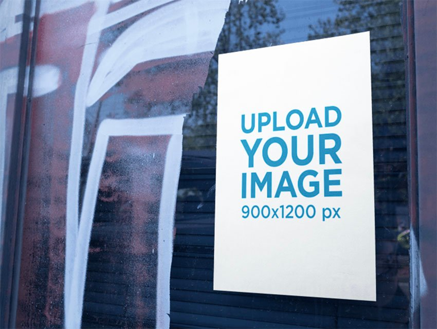Urban Poster Mockup with Graffiti