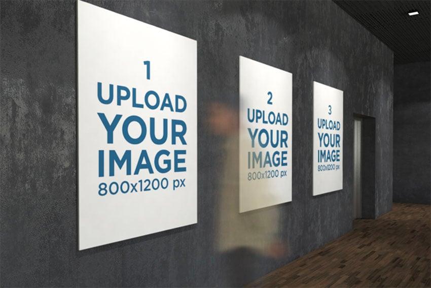 Three Exhibition Posters Mockups