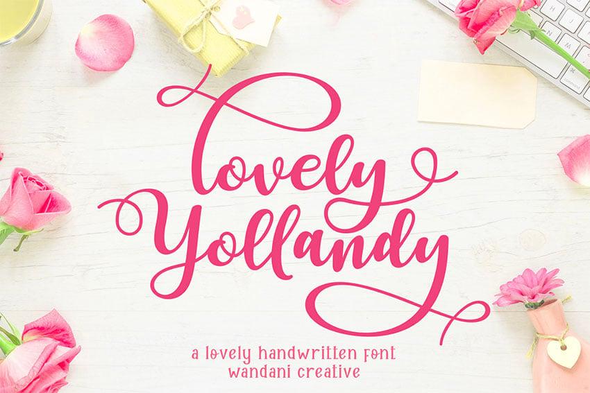 FREE  Lovely Yollandy Script Font