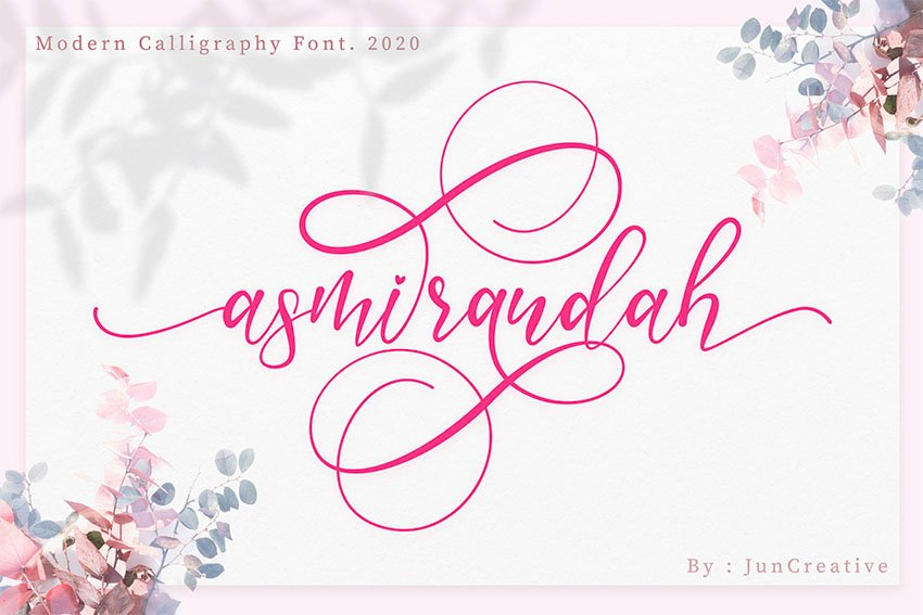 Asmirandah Script Modern Modern Calligraphy Font Free