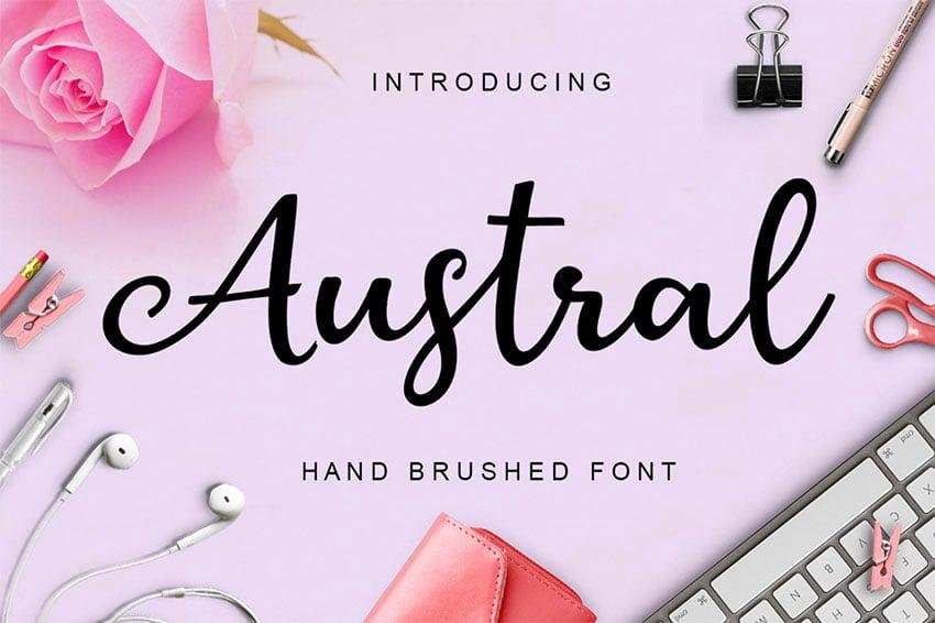 Free Calligraphy Script Font Austral