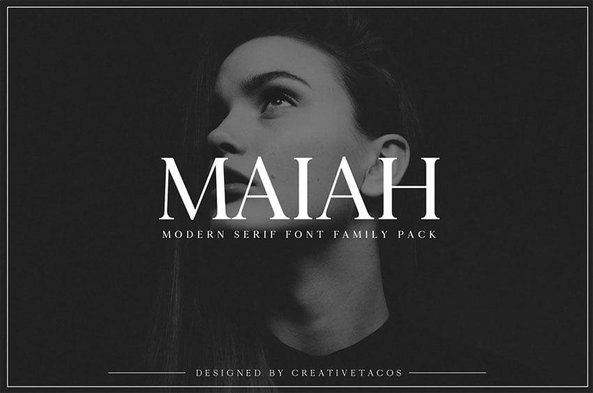 Maiah Serif Font Family Pack