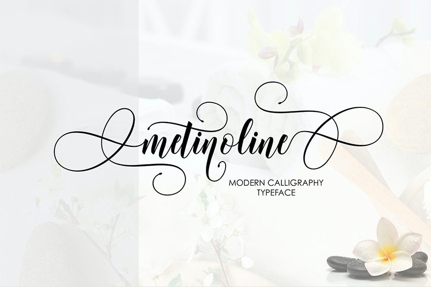 Metinoline Script Font with Calligraphy Swashes