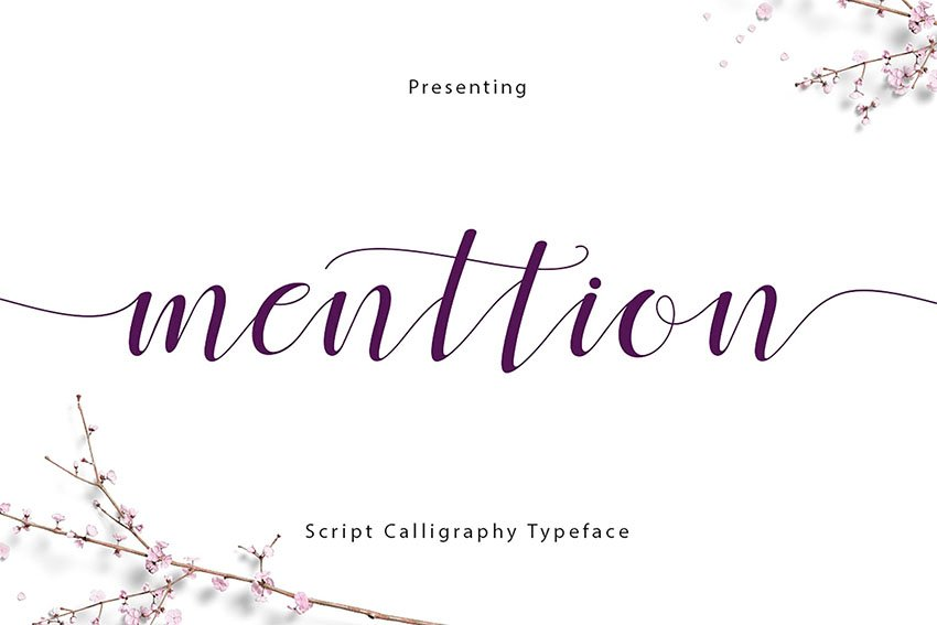 Menttion Script Font with Swashes