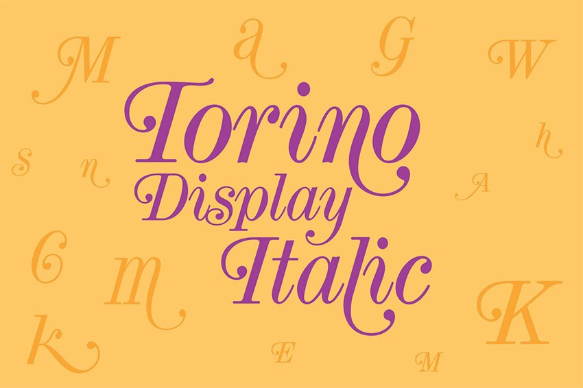 Torino Serif Fonts with Swashes
