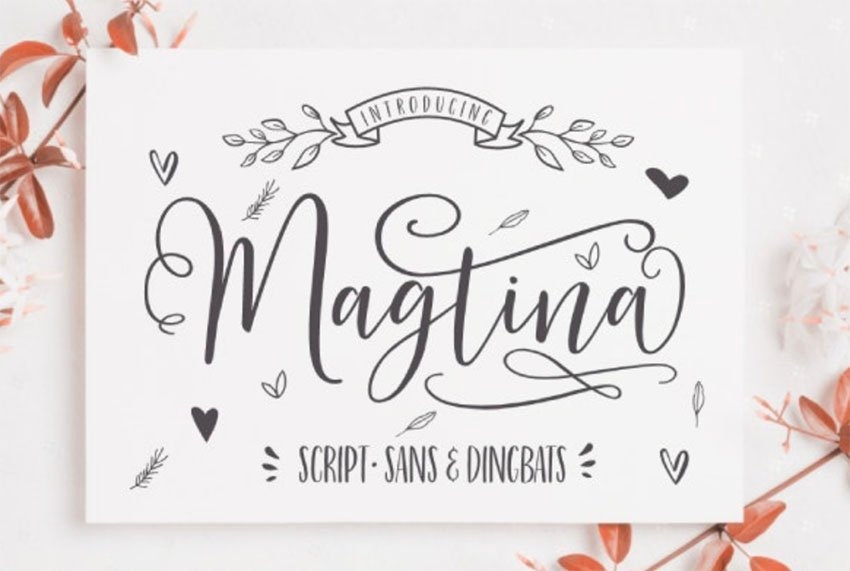 Magtina Script Font with Swashes