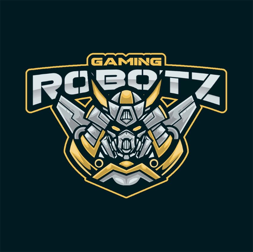 Gaming Logo Creator with a Samurai-Style Mecha Graphic