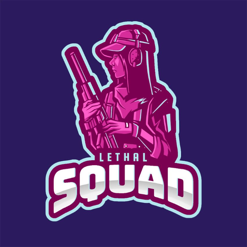 Gaming Logo Design for a Rainbow Six Siege-Inspired Squad