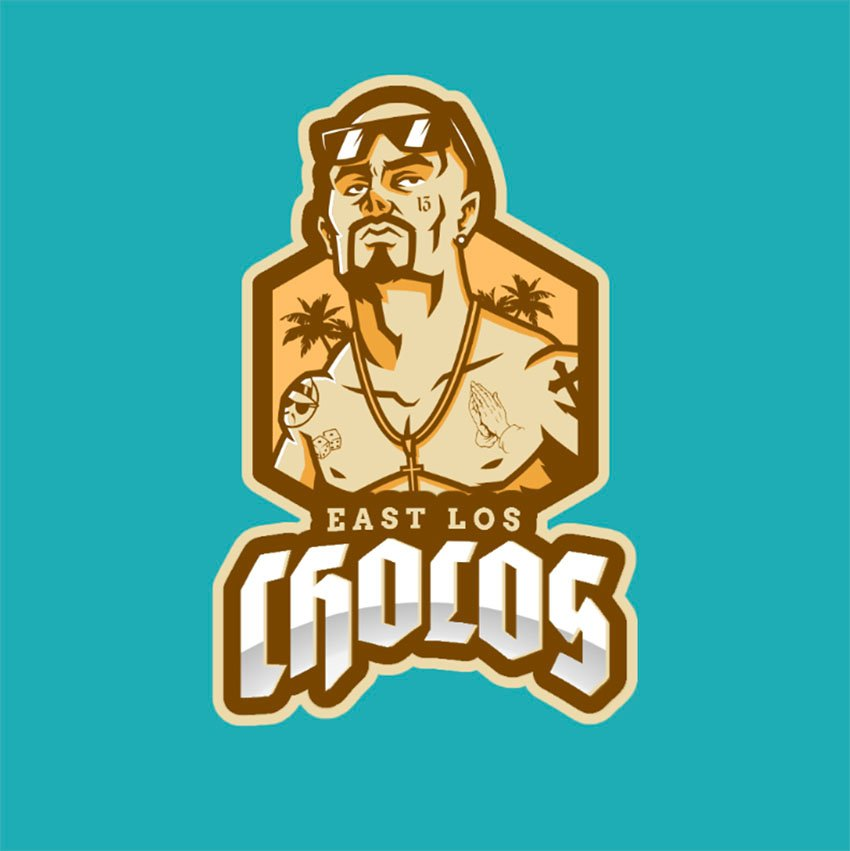 Gaming Team Logo Maker Featuring Tattooed Man