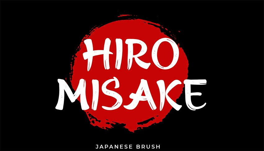 Hiro Misake Brush Calligraphy Style Font