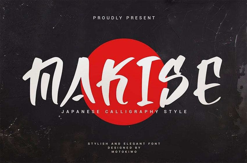 Makise - Japanese Calligraphy Style Font