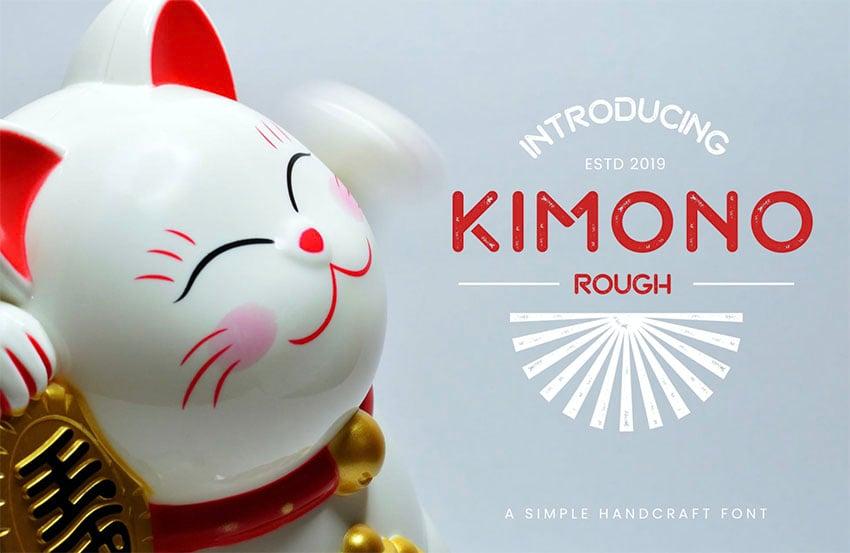 Kimono - Japanese Style English Font